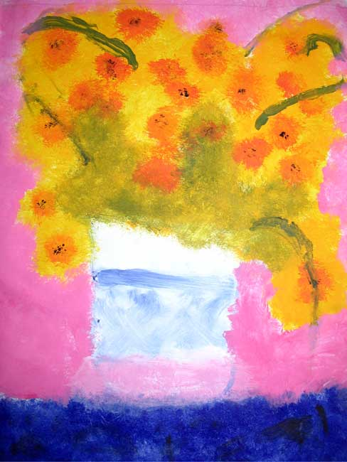 Visual Arts: Still-life of Sunflowers - Jules