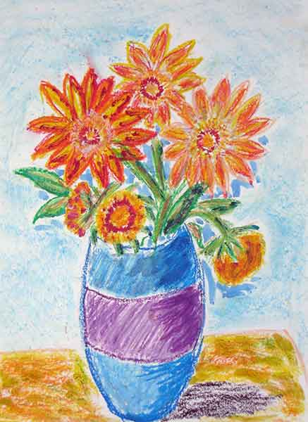 Visual Arts: Still-life of Sunflowers - Lesley