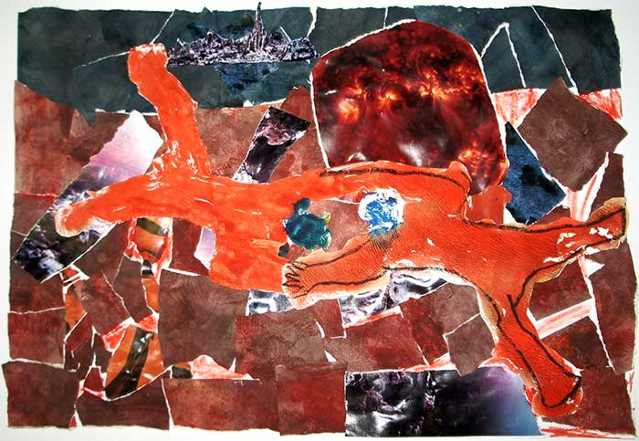 Visual Arts: Mars Expedition Collage - Kerry