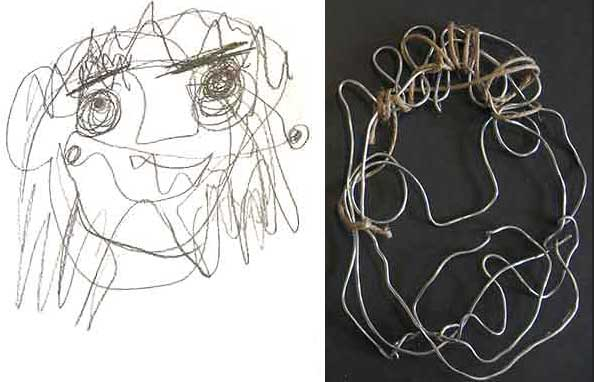 Visual Arts: Wire Sculptures - Indra