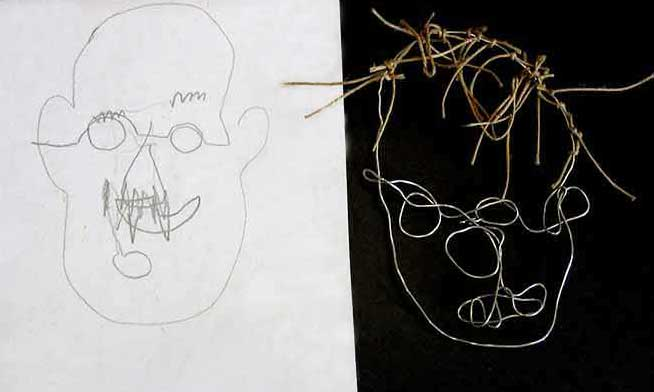 Visual Arts: Wire Sculptures - Kim