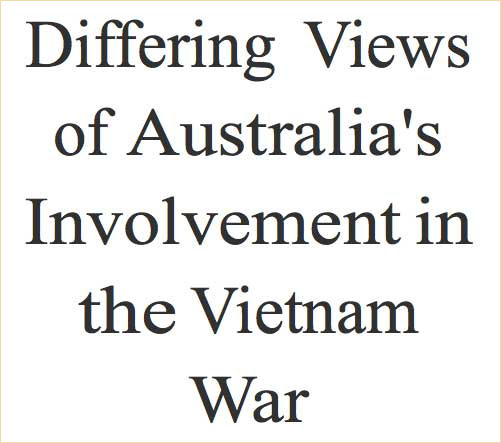 australia in the vietnam war era essay Read australian soldiers in world war one from the story history essays by mockingjay100 with 366 reads era, essay, perkins the landing at gallipoli on 25th.
